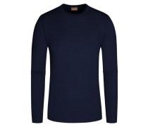 Pullover aus 100% Merinowolle von Stenströms in Marine für Herren
