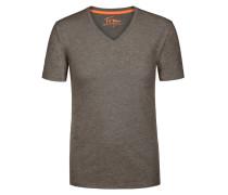 V-Neck T-Shirt mit Brusttasche von Tom Made In Heaven in Anthrazit für Herren