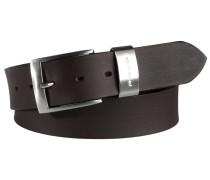 Gürtel mit Metallschlaufe in Schwarz