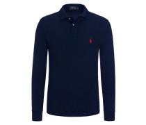 Hochwertiges Langarm-Poloshirt, Slim-Fit von Polo Ralph Lauren in Schwarz für Herren