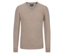 Merino/Kaschmir V-Neck Pullover von Tom Rusborg in Beige für Herren