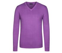 V-Neck Basic Pullover von Tom Rusborg in Lila für Herren