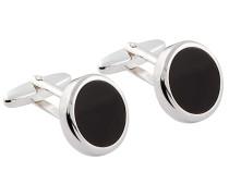 Manschettenknöpfe aus 925 Sterlingsilber von Tom Rusborg Premium in Schwarz für Herren