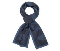 Schal im Wollmix mit Labelschriftzug von Armani Jeans in Blau für Herren