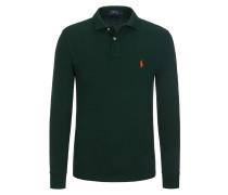Langarm-Poloshirt aus Piqué-Baumwolle, Slim-Fit von Polo Ralph Lauren in Dunkelgruen für Herren