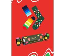 Geschenkbox Socken  Gruen