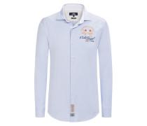 Hochwertiges Oxfordhemd, Slim Fit von La Martina in Blau für Herren