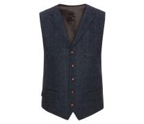 Hochwertige Weste aus 100% Schurwolle, Harris Tweed von Tom Rusborg in Marine für Herren