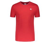 T-Shirt mit kontrastierenden Details von Le Coq Sportif in Schwarz für Herren