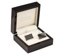 Manschettenknöpf, eckig, Streifen von Tom Rusborg Premium in Silber für Herren