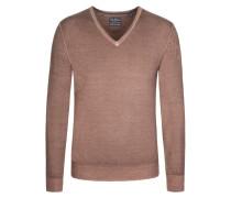 Basic V-Neck Pullover von Tom Rusborg in Braun für Herren