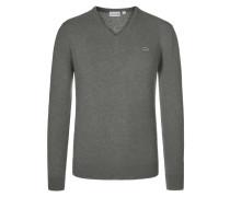Leichter V-Neck-Pullover aus reiner Lambswool von Lacoste in Grau für Herren