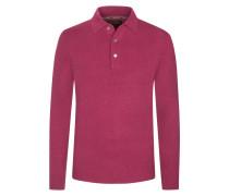Pullover mit Polokragen aus 100% Kaschmir von Tom Rusborg Premium in Berry für Herren