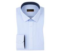 Slim Fit Businesshemd, 100% Baumwolle von Eterna in Hellblau für Herren