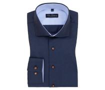 Bequemes Businesshemd aus 100% Baumwolle von Tom Rusborg in Marine für Herren
