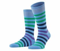 Socken mit Querstreifen  Hell