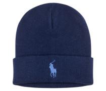 Baumwoll Strick Mütze von Polo Ralph Lauren in Marine für Herren