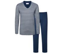 Gestreifter Schlafanzug von Novila in Marine für Herren