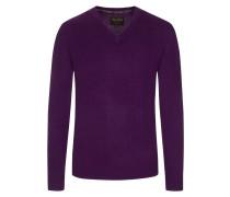 V-Neck Pullover aus 100% Kaschmir von Tom Rusborg Premium in Lila für Herren