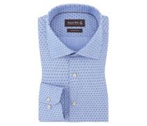 Gemustertes Custom Fit Hemd von Jacques Britt in Hellblau für Herren