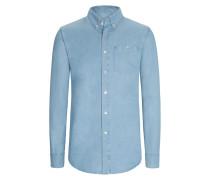 Freizeithemd mit Button-Down-Kragen in Jeansoptik von A Kind Of Guise in Blau für Herren