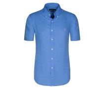 Kurzarmhemd, 100 % Leinen von Polo Ralph Lauren in Blau für Herren