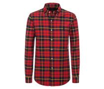 Kariertes Stretch-Oxford Freizeithemd, Slim-Fit von Polo Ralph Lauren in Rot für Herren