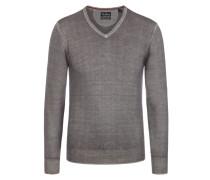 Basic V-Neck Pullover von Tom Rusborg in Grau für Herren
