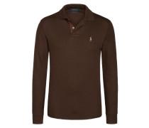 Soft Touch Sweatshirt mit Polokragen von Polo Ralph Lauren in Braun für Herren
