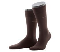 Socken mit Stretchanteil, Marc von Boss in Braun für Herren