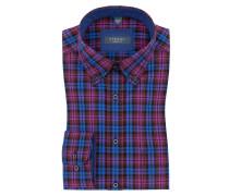 Kariertes Freizeithemd, Comfort Fit von Eterna in Bordeaux für Herren