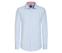 Slim Fit Vichy-Karo Trachtenhemd von Tom in Hellblau für Herren