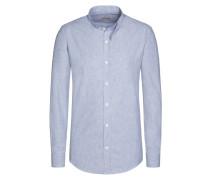 Trachtenhemd, gestreift von Gottseidank in Blau für Herren