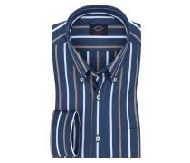 Button-Down-Freizeithemd, breite Längsstreifen von Paul & Shark in Marine für Herren