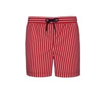 Gestreifte Badehose von Tom in Rot für Herren