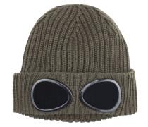 Strickmütze mit Brillengläsern von C.p. Company in Oliv für Herren