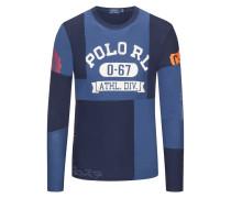 Sweatshirt in Zweifarben-Optik von Polo Ralph Lauren in Marine für Herren