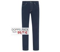 Sommerliche Baumwoll-Mix Jeans von Tom Rusborg in Marine für Herren