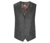Schicke Tweed-Weste mit Revers von C G in Hellgrau für Herren