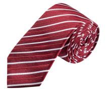 Schmale Streifen-Krawatte von Olymp in Rot für Herren