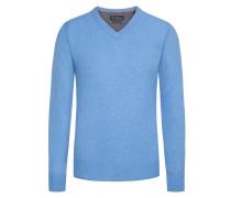 Merino/Kaschmir V-Neck Pullover von Tom Rusborg in Hellblau für Herren