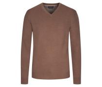Merino/Kaschmir V-Neck Pullover von Tom Rusborg in Braun für Herren
