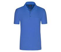 Mercerisierters Poloshirt mit feiner Musterung von Tom Rusborg in Hellblau für Herren