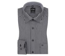 Luxor modern fit Hemd, gestreift von Olymp in Schwarz für Herren