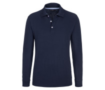 Polo-Kragen Sweatshirt, Regular Fit von Tom Rusborg in Marine für Herren