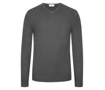 Pullover Merinowolle, V-Neck  Anthrazit