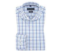 Businesshemd, Vollzwirn, Slim Fit von Tom Rusborg in Blau für Herren