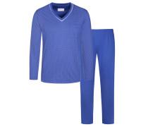 Pyjama mit praktischer Brusttasche, NOVILA-Bund® von Novila in Blau für Herren