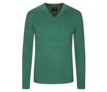 V-Neck Pullover aus 100% Kaschmir von Tom Rusborg Premium in Gruen für Herren
