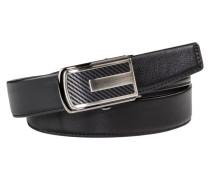 Ledergürtel mit modischer Schließe von Anthoni Crown in Schwarz für Herren